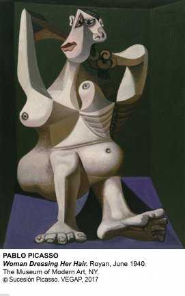 mujer en Picasso-moma_picasso_womandressingherhair