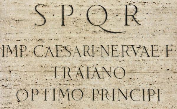 Inscripción latina-Trajano