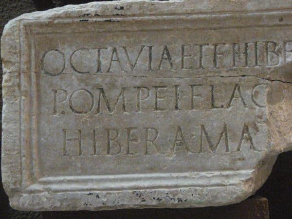 La epigrafía honorífica