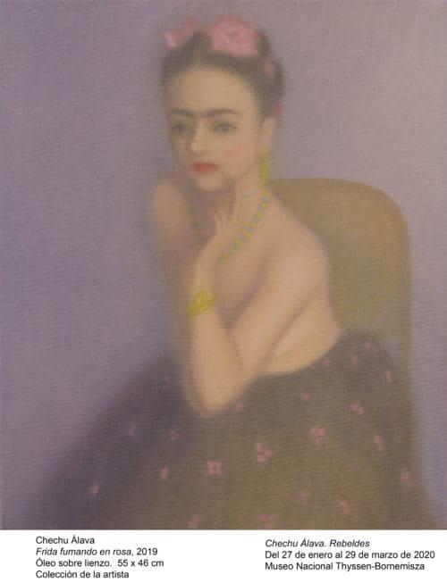 Rebeldes-Frida fumando