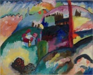 Vasily Kandinsky-Paisaje con chimenea