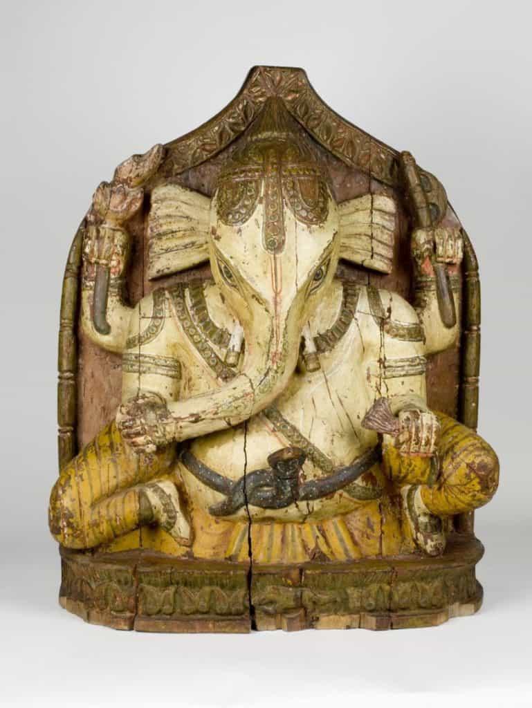 Los seis ciegos y El elefante-dios-ganesh-baja