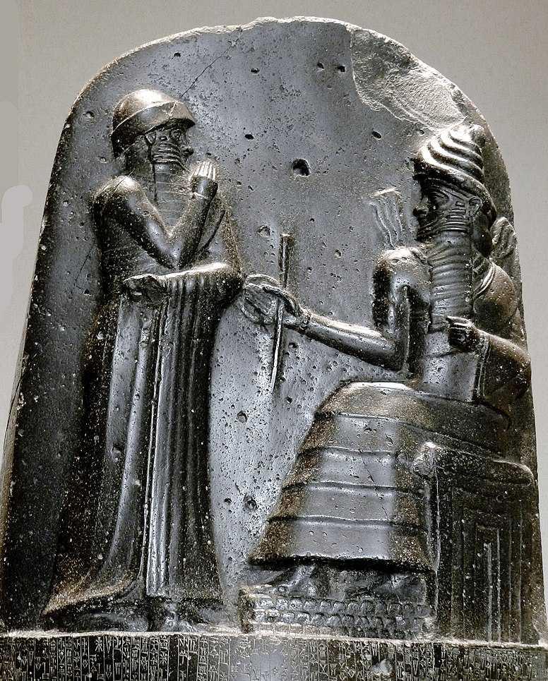 Mujer en Mesopotamia-Hamurapi museo del louvre code des lois de hammurabi