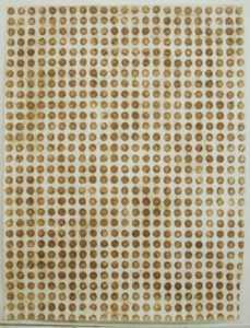 Ignacio Pérez-Jofre-frotage terra sobre papel 200 x 150 cm