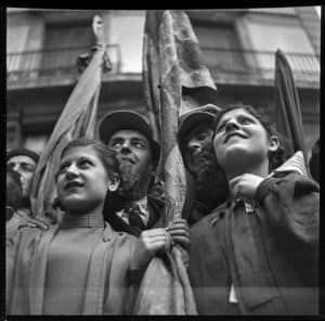La guerra infinita antoni campañà,fotografia del retorn de lluís companys, 1936