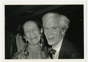 PHotoESPAÑA 2021-Diana vreeland and andy, the savoy, new york, 1981