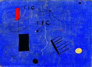 Painting,tic tic, 1927 (oil and hand-written inscription on canvas)
