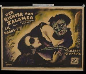Adaptaciones cinematográficas- Cartel de josef fenneker para der richter von zalamea (berger, 1920)