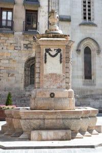 Fuente plaza de Santiago de Bilbao