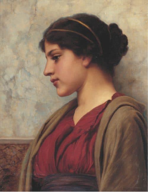 El Mito de Troya- John William Godward