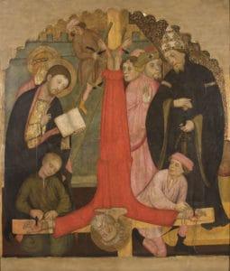 Francesc Torres -Pere Serra crucifixió de sant pere, cap a 1400 museu nacional d'art de catalunya