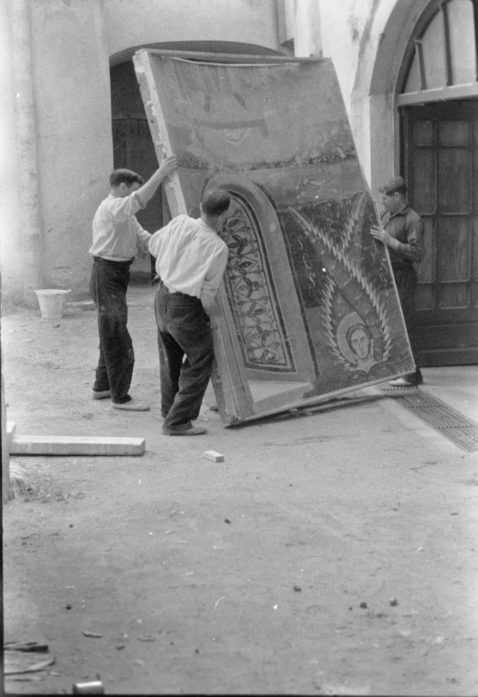 Museu en peligro-escàrrega de l'absis de santa maria d'Àneu al mas descals de darnius, 1937