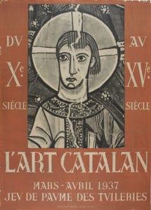 7 cartell de l'exposició l'art catalan, jeu de paume, parís,1937© museu nacional d'art de catalunya,